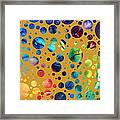Abstract Art Digital Pixelated Painting Image Of Beauty Of Color By Madart Framed Print