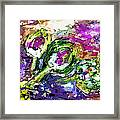 Abstract Artichoke Art By Ginette Framed Print