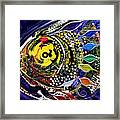 Abstract Busy Bee Fish Framed Print