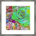Abstract Childlike Rose Framed Print
