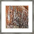 Abstract Coca Cola Sign Framed Print