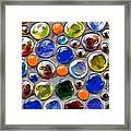 Abstract Digital Art Multi Colored Glass Balls Framed Print