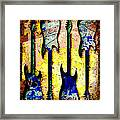 Abstract Guitars Framed Print