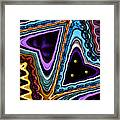 Abstract Hearts Framed Print