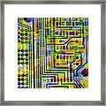 Abstract Image Of A Circuit Board. Framed Print by Tony Craddock