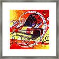 Abstract Jazzy Piano Framed Print