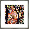Abstract Modern Tree Landscape Distant Worlds By Amy Giacomelli Framed Print