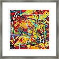Abstract Pizza 1 Framed Print