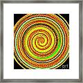 Abstract Spiral Framed Print