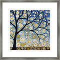Abstract Tree Nature Original Painting Starry Starry By Amy Giacomelli Framed Print