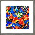 Acrylic Abstract Upon Wood Framed Print