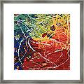 Acrylic  Poured  And  Dripped  2001 Framed Print