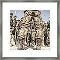 Afghan Air Force Members Get Briefed Framed Print