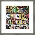 African Beaded Earrings Framed Print