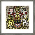 Aged And Cracked Canada Coat Of Arms Framed Print