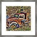 Aging Truck Framed Print