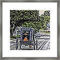 Amish Girl Framed Print