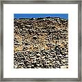 Ancient Sea Bed In A Cliff Framed Print