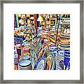 Antique Dishes Fishs Eddy New York Framed Print