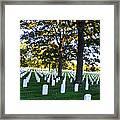 Arlington Cemetery Graves Framed Print