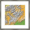 Artistic Map Of Southern Appalachia Framed Print