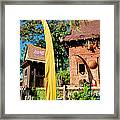 Asia Theming And Flags At Animal Kingdom Walt Disney World Prints Accented Edges Framed Print