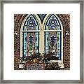 Athens Alabama First Presbyterian Church Stained Glass Window Framed Print