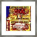 Atomic Fire Ball Framed Print