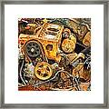 Auto Engine Block From A Wrecked Car Framed Print