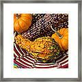 Autumn Basket  Framed Print by Garry Gay
