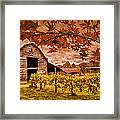 Autumn Cabernet Framed Print