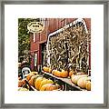 Autumn Farm Stand  Framed Print