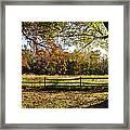 Autumn Field In Pennsylvania Framed Print