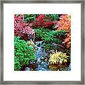 Autumn Garden Waterfall I Framed Print