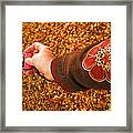 Autumn Leaves Times Two Framed Print
