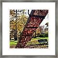 Autumn Slide Framed Print