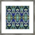 Azuraz Candle Tiled Framed Print
