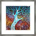 Azure Tree Framed Print