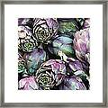 Background Of Artichokes Framed Print by Jane Rix