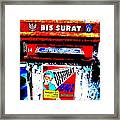 Bali Graffitied Funky Postbox Framed Print