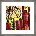 Bamboo Wind Chimes Framed Print