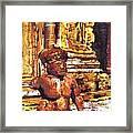 Banteay Srei Statue Framed Print