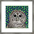 Barred Owl In A Fractal Tree Framed Print