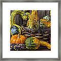 Basket Full Of Gourds Framed Print