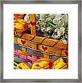 Basket Of Spring Flowers Framed Print