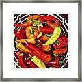 Basketful Of Peppers Framed Print