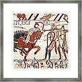 Battle Of Hastings Bayeux Tapestry Framed Print