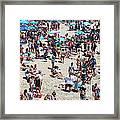 Beach People Framed Print