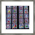 Beautiful Stained Glass At Notre Dame Cathedral Framed Print