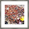 Bed Of Sequins Framed Print